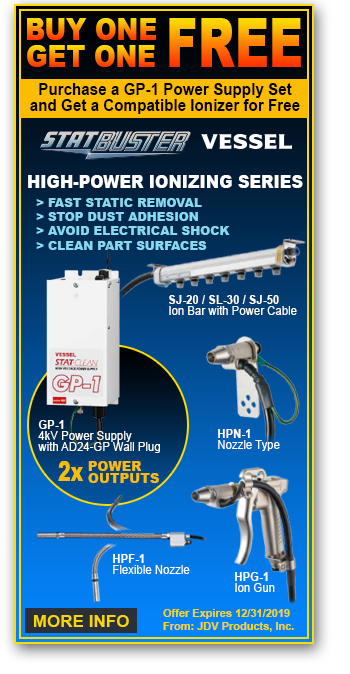 BOGO Sale - High-Voltage ionizers